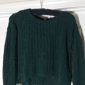 Emerald knit sweater from Abercrombie & Fitch